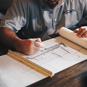Piet Timmer - bouwtekening